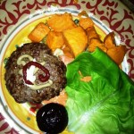 Burger,beet,sw potatoes