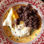 Eggs and beef