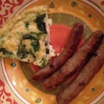 Primal Blueprint Quiche and sausage