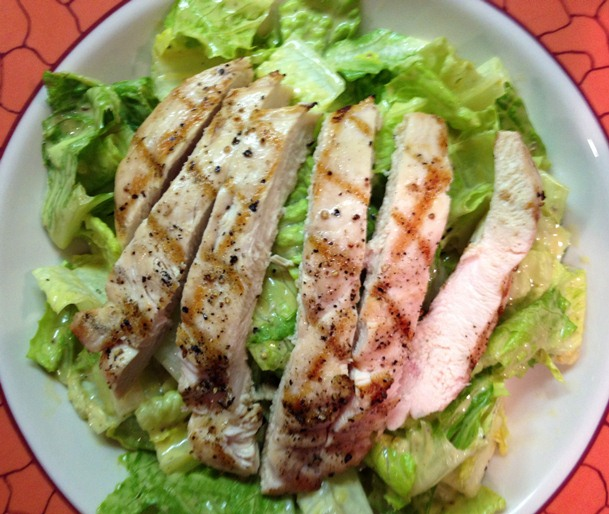 Finished Chicken Caesar Salad